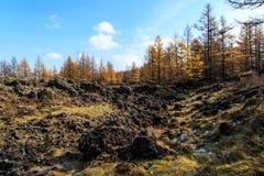 Arxan στο εσωτερικό πάρκο εθνικών δρυμός της Μογγολίας Στοκ φωτογραφία με δικαίωμα ελεύθερης χρήσης