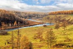 Arxan sceneria w Wewnętrznym Mongolia Obraz Stock