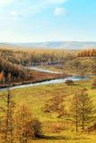 Arxan sceneria w Wewnętrznym Mongolia Zdjęcia Stock