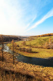 Arxan sceneria w Wewnętrznym Mongolia Obraz Royalty Free