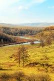 Arxan sceneria w Wewnętrznym Mongolia Zdjęcia Royalty Free
