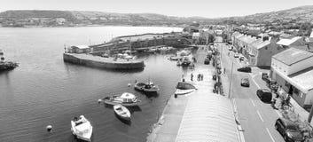 Arya's tritt Carnlough-Hafen Glencloy Co Antrim Nordirland stockfotografie