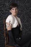 arystokratyczny smokingowy wieczór damy portret fotografia royalty free