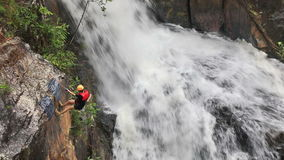 Climbers in action Stock Footage