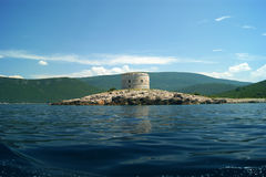 Arza, Montenegro. Fortress Arza on the Lustica Peninsula Stock Images