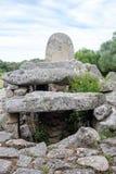 Arzachena, Sardegna, Italia, Europa, tomba dei giganti immagine stock libera da diritti