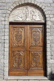 ARZACHENA, SARDINIA/ITALY - MAY 20 : Door to Saint Anna Church i. N Arzachena Sardinia on May 20, 2015 Royalty Free Stock Photos