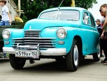 ARZAMAS, RUSSIA, il 3 luglio 2016: Vecchia retro automobile sulla mostra Fotografia Stock Libera da Diritti