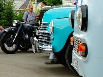 ARZAMAS, RUSSIA, il 3 luglio 2016: Vecchia retro automobile sulla mostra Immagine Stock