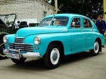 ARZAMAS, RUSSIA, il 3 luglio 2016: Vecchia retro automobile sulla mostra Fotografie Stock