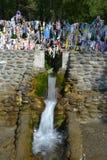 Arzhaan-Suu sacred spring, nature landmark of Altai, Siberia Stock Images