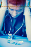 Arzt mit medizinischem Dilemma Stockfotografie