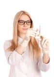 Arzt mit Spritze Lizenzfreie Stockfotografie