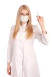 Arzt mit Spritze Stockbild