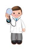 Arzt mit Stethoskop stockfotografie