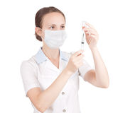 Arzt oder Krankenschwester Lizenzfreie Stockfotos