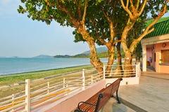 As árvores da praia de Pui O Fotografia de Stock