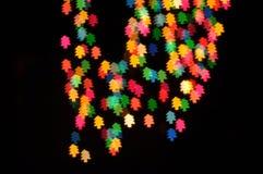 As árvores de Natal assinam dentro o fundo da noite Imagens de Stock Royalty Free