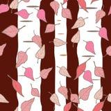 As árvores de vidoeiro repetem a cópia sem emenda do vetor do teste padrão ilustração stock