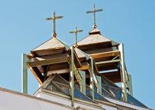 As abóbadas da igreja Católica grega Fotos de Stock