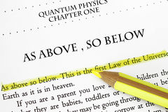 As above so below. A major tenet in quantum physics Stock Image