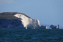 As agulhas, ilha do Wight, Reino Unido Imagens de Stock Royalty Free