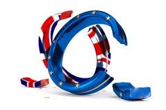 As alianças de casamento quebradas simbolizam o Brexit ilustração stock