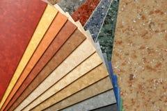 As amostras de linóleo da coleção Fotos de Stock