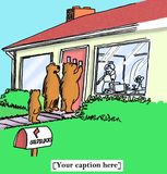 As apostas Goldilocks do urso serirão o papa de aveia Imagens de Stock Royalty Free