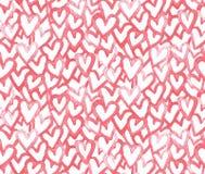 As aquarelas vector o teste padrão sem emenda com corações Fotografia de Stock Royalty Free