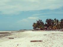 As areias brancas de Uroa encalham, baía de Uroa, Zanzibar foto de stock