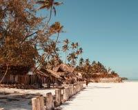 As areias brancas de Uroa encalham, baía de Uroa, Zanzibar, Tanzânia imagem de stock royalty free
