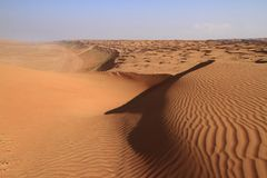 As areias de Wahiba imagens de stock