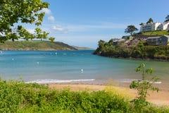 As areias sul encalham a praia BRITÂNICA de Salcombe Devon no estuário no verão Foto de Stock Royalty Free