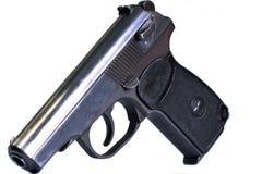 As armas de fogo atiram em um fundo e em uma textura imagens de stock