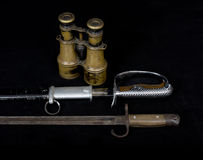 As armas históricas velhas, soldado japonês das armas durante Worl foto de stock