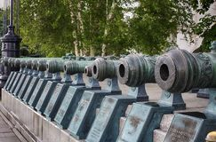 As armas militares do russo do XVII e de XVIII séculos no Fotografia de Stock Royalty Free
