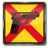 As armas são proibidas Imagens de Stock