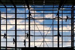As arruelas lavam as janelas Imagens de Stock