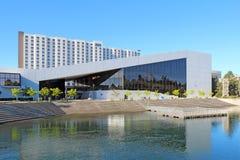 As artes de palco de INB centram-se ao longo do rio em Spokane, Washi imagens de stock royalty free