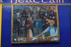 As artes e a história cultural, céltico quadro a pintura nas ruas de Galway, Irlanda Fotos de Stock Royalty Free