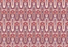 As artes e os ofícios denominam o papel de parede sem emenda em cores cor-de-rosa e malva Imagem de Stock
