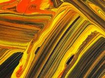 As artes que pintam no sumário de papel do fundo colorem o acrílico Fotos de Stock