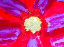 As artes que pintam no sumário de papel do fundo molham o acrílico Fotografia de Stock Royalty Free