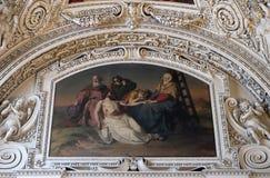 as 13as estações da cruz, corpo do ` de Jesus são removidas da cruz Fotografia de Stock Royalty Free