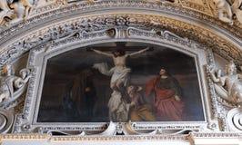 as 12as estações da cruz, Jesus morrem na cruz Imagem de Stock Royalty Free