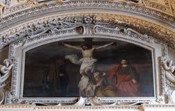 as 12as estações da cruz, Jesus morrem na cruz Foto de Stock
