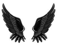 As asas de um anjo caído Imagem de Stock Royalty Free