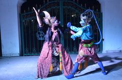 As atrações da dança de Ramayana no Jogja foto de stock royalty free