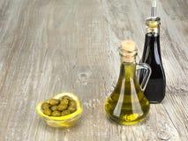 As azeitonas verdes são um produto natural Foto de Stock